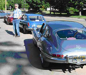 eter with his 1965 E-type coupe