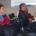 Eddie Enborg (left) in classroom
