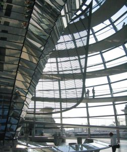The new Reichstag is a great place to view the city and look down on the legislators