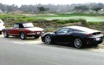 Parking on the cold shoulder of 17 Mile Drive