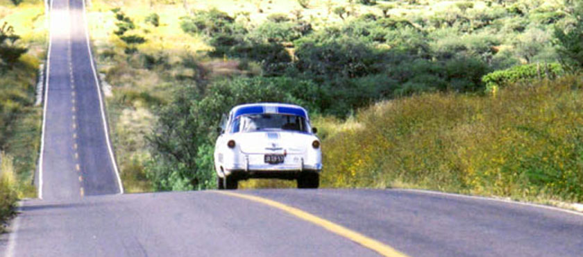 Near the end of the Carrera Panamericana Race