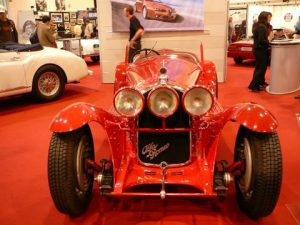 Alfa Romeo was one of a half dozen manufacturers who brought valuable cars from their museums