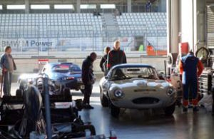 LIghtweight Jaguar E-Type prepped for battle