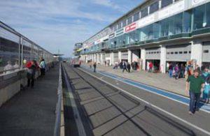 Pit lane at Nurburgring