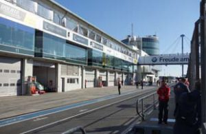 Another view of the pit lane at Nurburgring