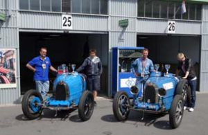 Original Pit Garages With Bugatti T35s