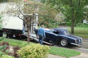 Maserati Being Loaded on Transporter