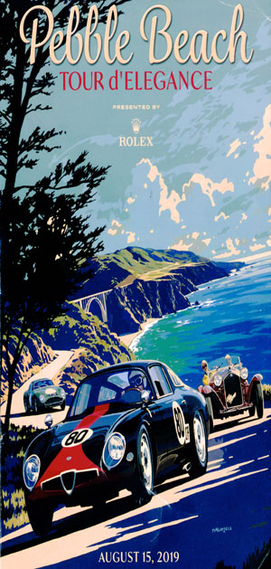 Pebble Beach Concours poster 2019